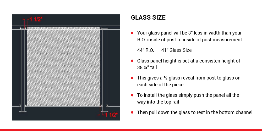 McLean Railings – how to assemble glass railing – 5